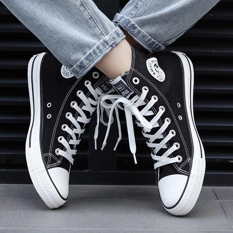 (3 Màu) Giày Thể Thao Nam Vải Cao Cổ Ngôi Sao  Xinchaobu Full đen, đỏ, Trắng đen Shyn Store Đang Hạ Giá tại Lazada