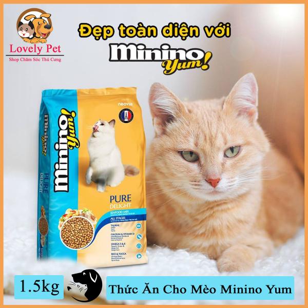 Lovely Pet - Thức Ăn Cho Mèo Minino Yum 1,5kg