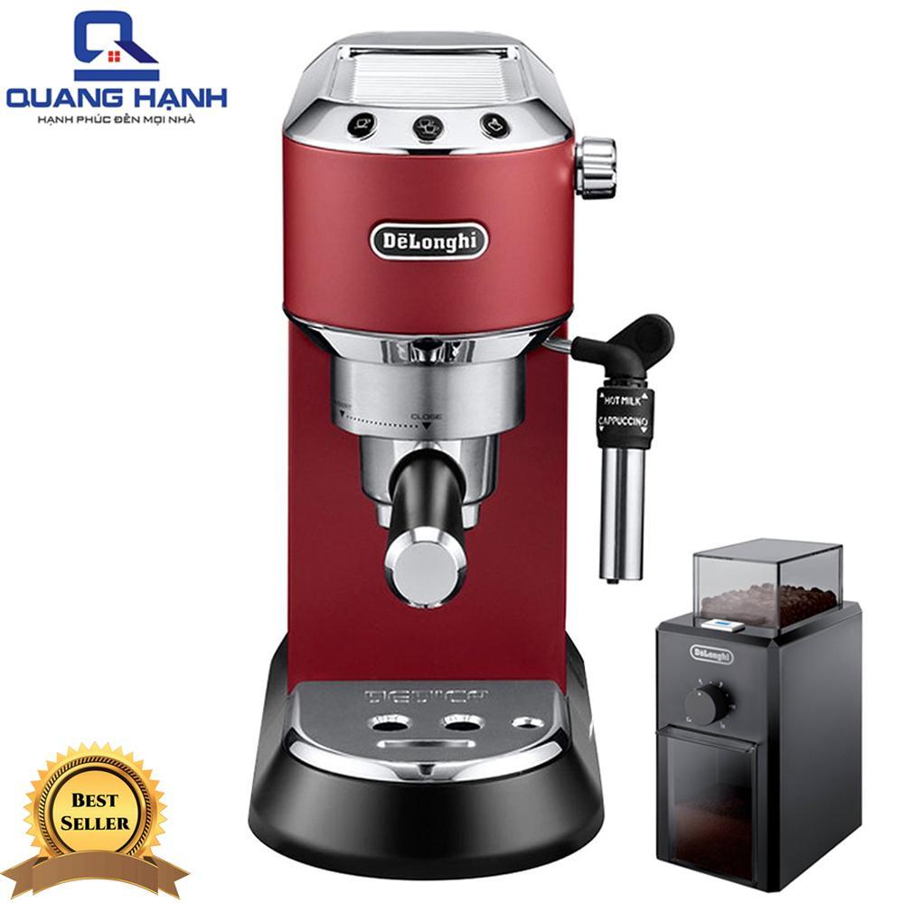 Comboo Máy pha cà phê Delonghi EC685.R + Máy pha cà phê Delonghi KG79
