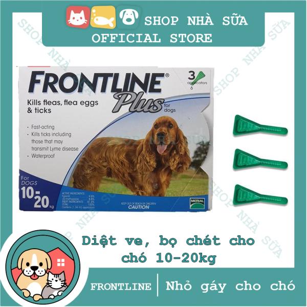 Thuốc Nhỏ Gáy Trị Ve và Bọ Chét Trên Chó 10-20kg - FRONTLINE PLUS DOG - 1 Hộp (3 Tuýp) - Nông Trại Thú Cưng