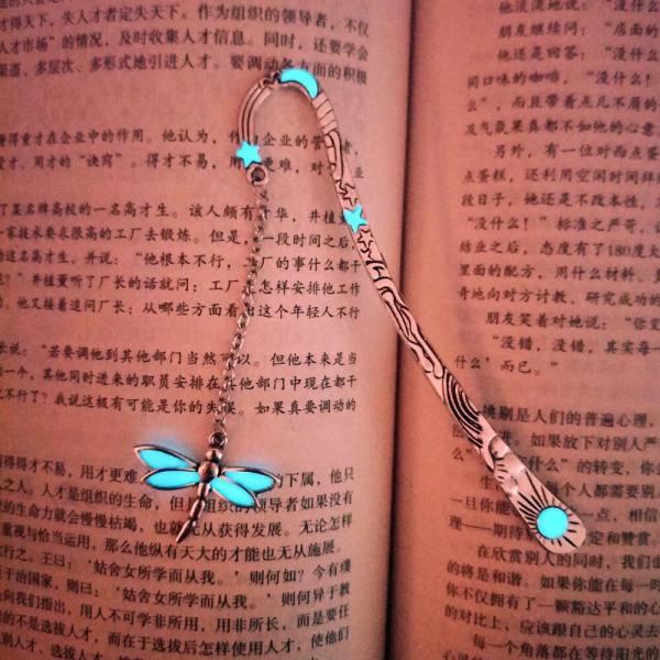 Mua Bookmark chuồn chuồn dạ quang, mạ bạc xi thái - QQ Books
