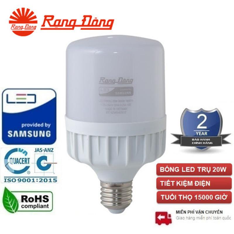 Bóng đèn LED TRỤ 20W RẠNG ĐÔNG Siêu Sáng TR80N1/20W 3000K/ 6500K