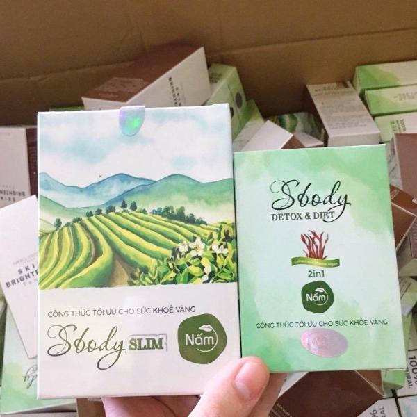 [HCM]trà giảm cân Nấm dạng viên Slim Sbody của Hoài Thương tặng Detox