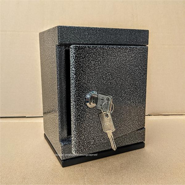 [HCM][ HÀNG DẦY ] Két sắt tiết kiệm mini Màu Đen Bạc 12x15x20cm nặng 1.5 - 1.6kg