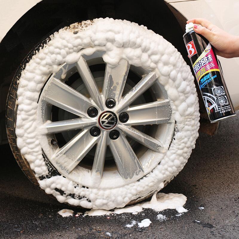 01 Chai xịt tạo bọt vệ sinh lốp xe,làm sạch, bảo dưỡng mâm viền bánh ô tô, xe hơi, xe máy, xe tải,xe khách, dưỡng đen và bóng bảo vệ lốp dung tích 650ml-B-1107