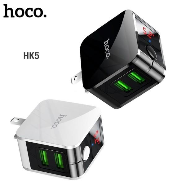 Củ Sạc Nhanh Đa Năng Hoco HK5 Dual USB - Cốc Sạc Tự Ngắt - Có Màn Hình LED