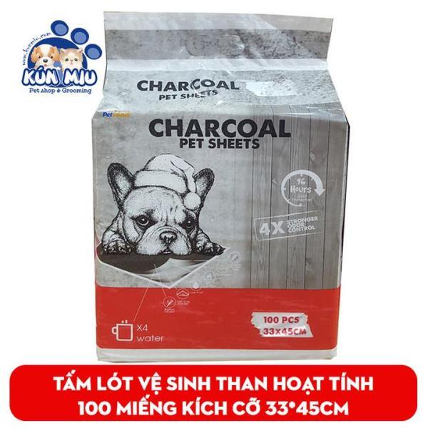 Combo 10 miếng Tấm lót vệ sinh cho chó mèo than hoạt tính Pet Land Charcoal