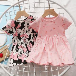 Váy Cotton Váy Tết Bé Gái Ngắn Tay Dáng BabyDoll 7-27kg In Họa Tiết Nhí Nhiều Màu Dễ Thương Thời Trang Julykids VAY G1002 (Ngẫu Nhiên) thumbnail