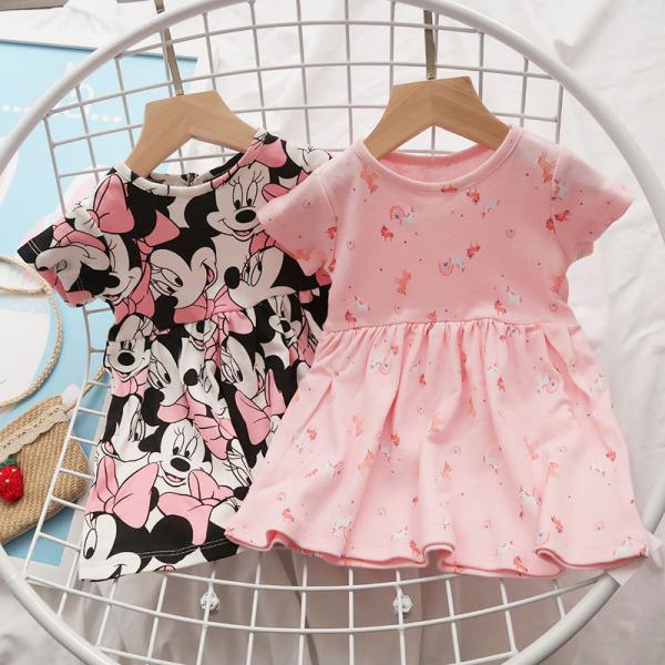 Váy Cotton Váy Tết Bé Gái Ngắn Tay Dáng BabyDoll 7-27kg  In Họa Tiết Nhí Nhiều Màu Dễ Thương Thời Trang Julykids VAY G1002 (Ngẫu Nhiên)