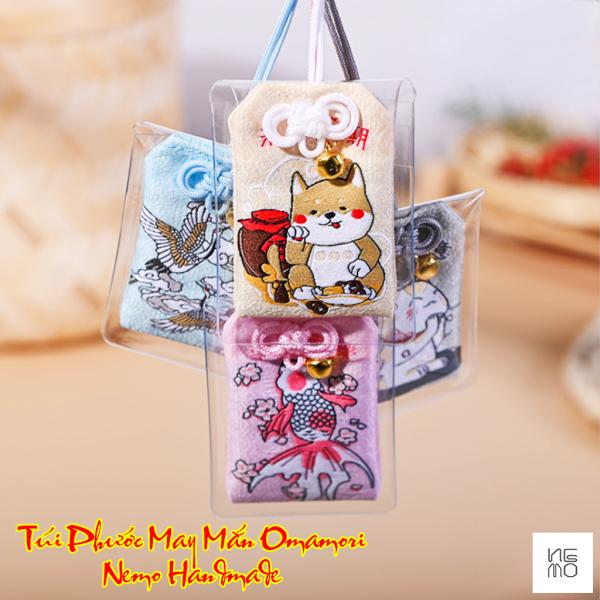Túi Omamori Nemo Handmade Hình Chó, Mèo, Chim, Cá Mang Nhiều Ý Nghĩa Kèm Quà Tặng - OM4MT