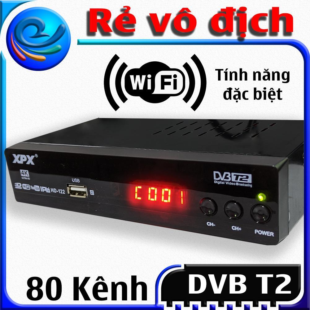 Mã Giảm Giá tại Lazada cho Đầu Thu Kỹ Thuật Số Dvb T2 - XPX - Dau Thu Truyen Hinh Mat Dat Dvb T2- Full HD 1080p Thu được Hơn 80 Kênh Truyền Hình Phổ Thông