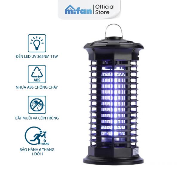 Đèn Bắt Muỗi Cao Cấp 2021 MIFAN - BH 6 Tháng - Đèn LED 11W Công Suất Cao Ánh Sáng Tím 365 Nano Wave Thu Hút Côn Trùng - Nhựa ABS Chống Cháy Siêu Bền
