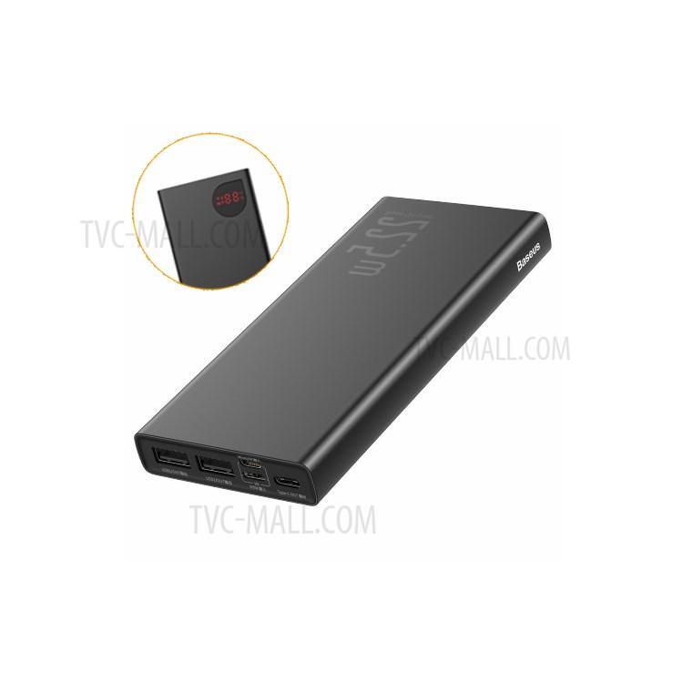 Pin sạc dự phòng 10000Mah với 2 cổng USB 2 cổng PD và 1 cổng in micro có màn hình hiển thị pin
