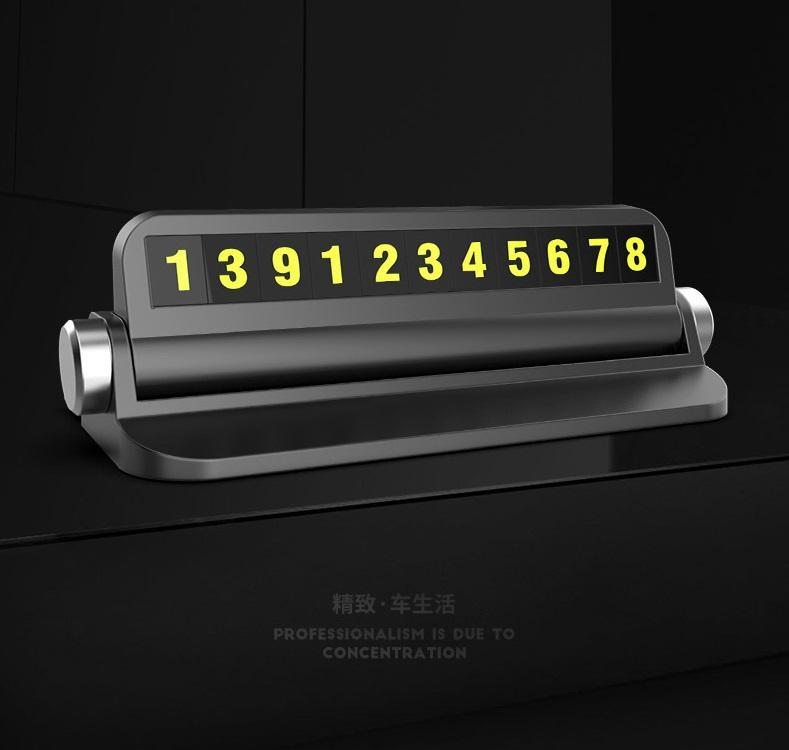 Giá Bảng số điện thoại đặt, gắn trên táp lô xe hơi hỗ trợ đỗ xe