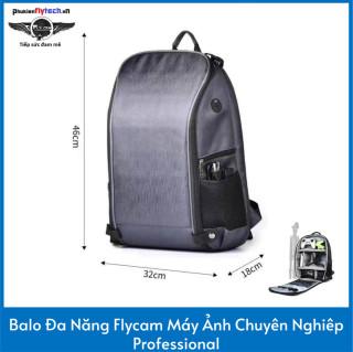 Balo đa năng flycam máy ảnh chuyên nghiêp professional - Multi-function flycam backpack, professional camera - Jeebel - Giúp đựng máy ảnh, flycam chuyên dụng, có thể chứa thêm phụ kiện flycam - Vừa vặn, đa năng, chất liệu nilon bền bỉ thumbnail