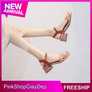 (Miễn ship) Giày nữ, dép sandal nữ đế cao 5 phân PinkShopGiayDep thumbnail