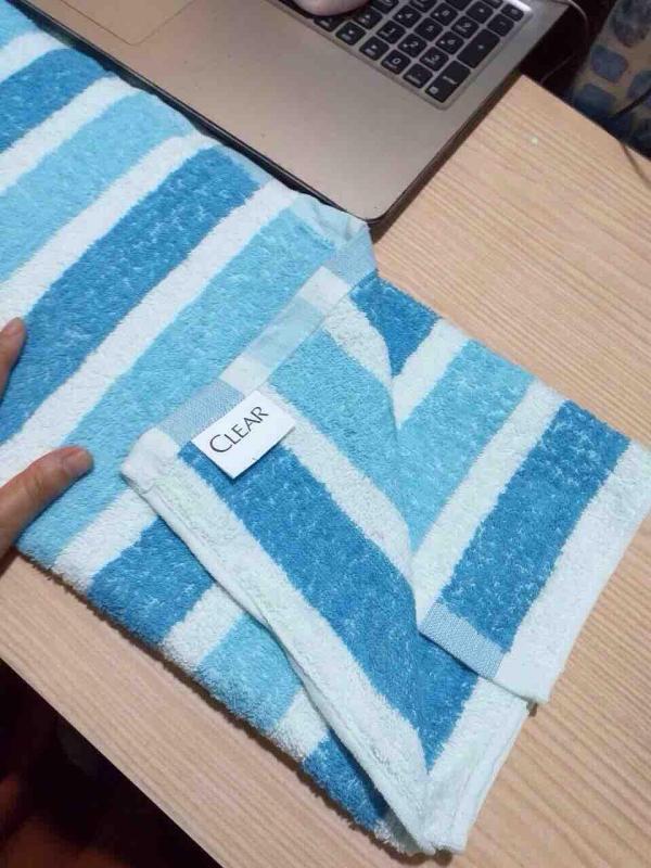 (HÀNG TẶNG) COMBO 2 Khăn Tắm Clear Sọc 50x100