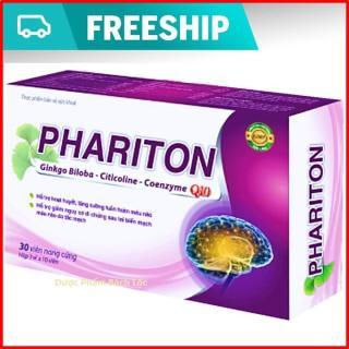 Viên Uống Bổ Não Phariton,Ginkgo Biloba,Citicoline,Coezyme Q10 - Hộp 30 viên chuẩn GMP Bộ Y tế thumbnail