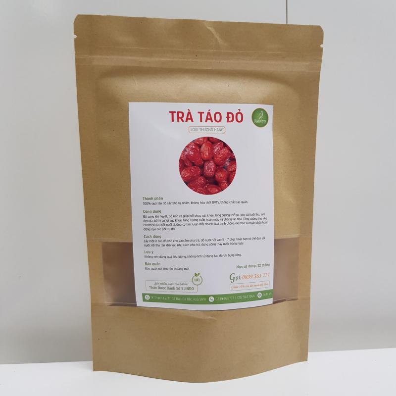 Táo Đỏ sấy khô thượng hạng gói 200gr - TM110 cao cấp