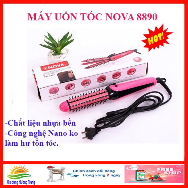 Dụng cụ uốn duỗi bấm tóc đa năng 3 in 1 NoVa 8890, máy tạo kiểu tóc mini giá rẻ công nghệ Nano không hại tóc, cho bạn mái tóc ưng ý. nhập khẩu