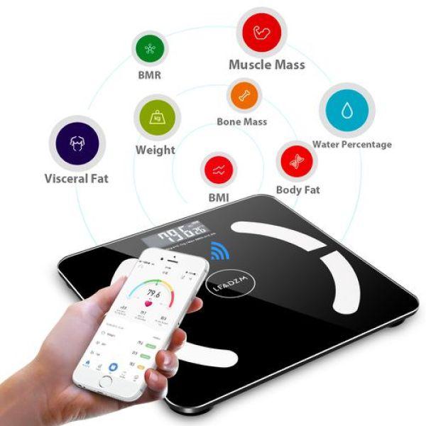 Cân Điện Tử 6027-260 Màu Đen - Có thể điều khiển qua app điện thoại bằng kết nối Bluetooth cao cấp