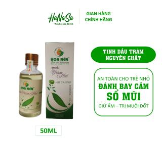 Tinh dầu tràm nguyên chất Hoa Nén 50ml Đánh bay sổ mũi, ho, cảm, trị muỗi đốt, an toàn cho bé thumbnail