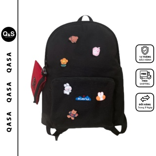 Balo đi học QASA thời trang nam nữ - Cặp học sinh cấp 1, cấp 2, cấp 3 vải canvas phong cách Hàn quốc nước cam kết chất lượng thumbnail