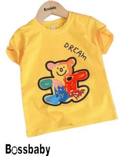 Áo thun bé trai, áo bé trai,bé gái,áo thun hình gấu nhiều màu cho bé từ 6kg-29kg.AL10.