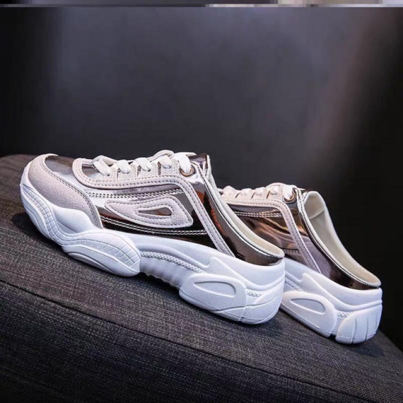 Giày sục tráng bạc full box giá rẻ