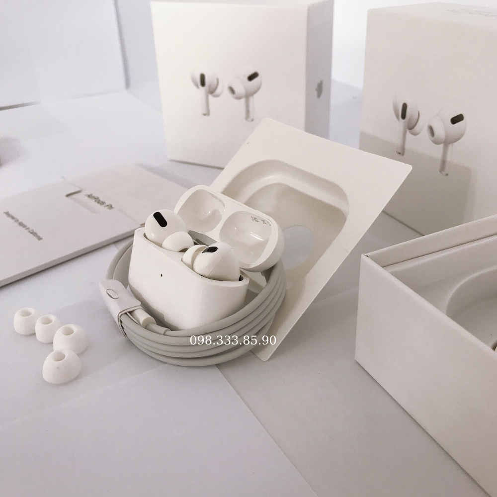 [BH 1 Đổi 1] Tai Nghe Bluetooth Airpods Pro Không Dây Nhét Tai, Full Chức Năng Định Vị - Đổi Tên - Sạc Không Dây