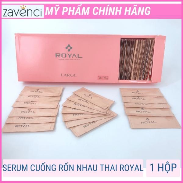 Serum nhau thai cuốn rốn royal zavenci tái tạo làn da mới, phục hồi tổn thương do mụn nám da cháy làm mờ thâm đốm nâu tàn nhang cấp ẩm cho da hiệu quả ngay lần đầu sử dụng (hộp 90 gói) cao cấp