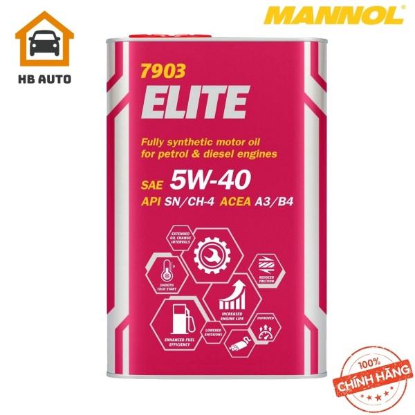 [PRO] Nhớt MANNOL 7903 Elite 5W-40 SN/CH-4 A3/B3 1Lít Tổng Hợp Toàn Phần Cao Cấp Chứa Ester Đa Năng Cải Tiến