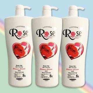 [K][MỊN MÀNG QUYẾN RŨ] Sữa Tắm Dê Vanessa Rose 9X 1200ML - hương hoa hồng quyến rũ cho làn da mịn màn như lụa - hàng cao cấp Thái Lan - chăm sóc da - đồ dùng nhà tắm thumbnail