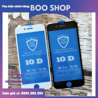 Kính cường lực 10D cho iphone 6Plus 6SPlus 6 6s 7 8 7plus 8plus X Xs Xsmax, 11,11 Pro, 11 Pro Max siêu bền - Phụ kiện điện thoại thumbnail