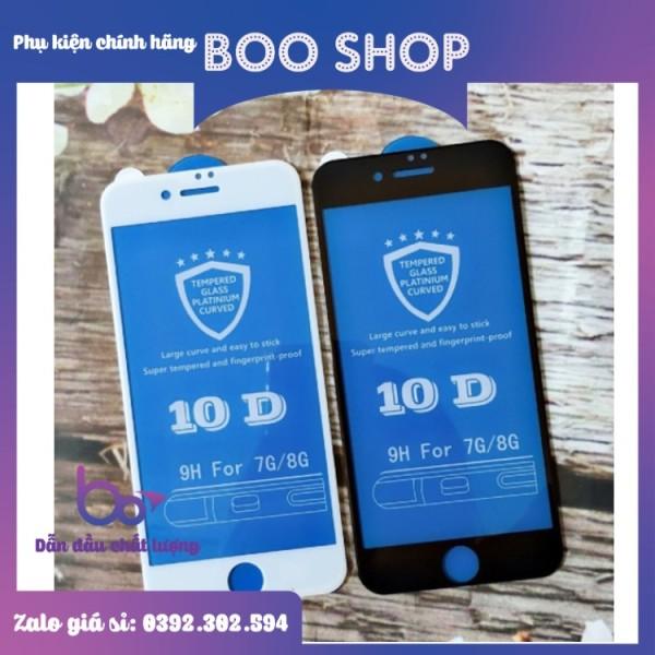 Kính cường lực 10D cho iphone 6Plus/6SPlus/6/6s/7 8 7plus 8plus X Xs Xsmax, 11,11 Pro, 11 Pro Max siêu bền - Phụ kiện điện thoại