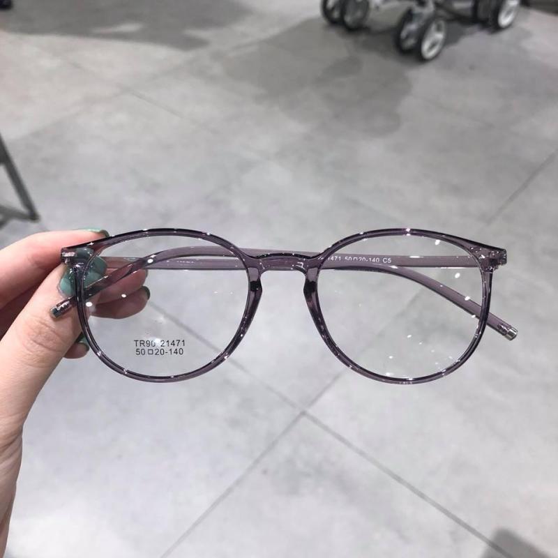 Giá bán Kính gọng Mắt tròn Nhựa siêu dẻo Hàn Quốc  21471 (XÁM)