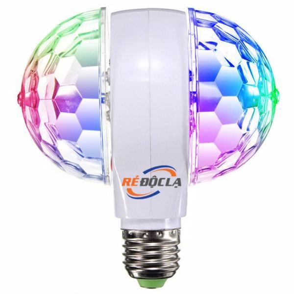 Bóng đèn led xoay 360 độ Led 7 màu, đèn led tự xoay, đèn led 7 màu , đuôi đèn E27 , bóng đèn led 7 màu , bóng led , bóng đèn tự xoay - Đèn led xoay nhiều màu E27 LED MAGIC BALL LIGHT (N007)
