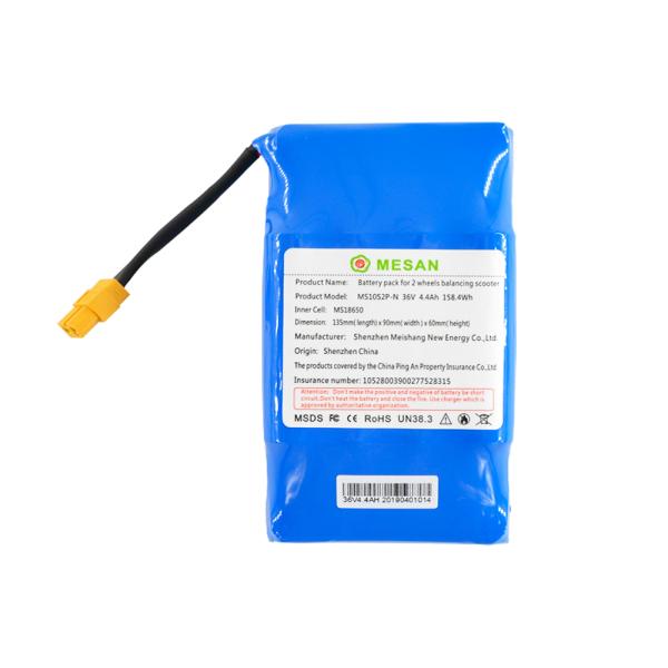 Phân phối Pin xe điện cân bằng và xe điện 3 bánh Drift mã KT3, giắc 3 chân, 36v 4400 mah