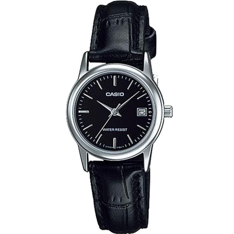 Đồng hồ nữ dây da Casio Anh Khuê LTP-V002L-1AUDF (Đen)
