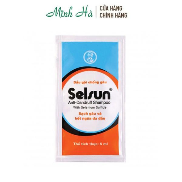 Dầu gội Selsun Anti-Dandruff Shampoo sạch gàu và hết ngứa da đầu - gói dùng thử 5ml