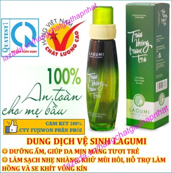 Dung dịch vệ sinh phụ nữ  trầu không tràm trà Lagumi 100ml - 100% thiên nhiên (An toàn cho Mẹ Bầu) (Việt Nam)