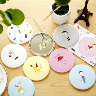 Gương mini trang điểm, gương bỏ túi phong cách Hàn Quốc thumbnail