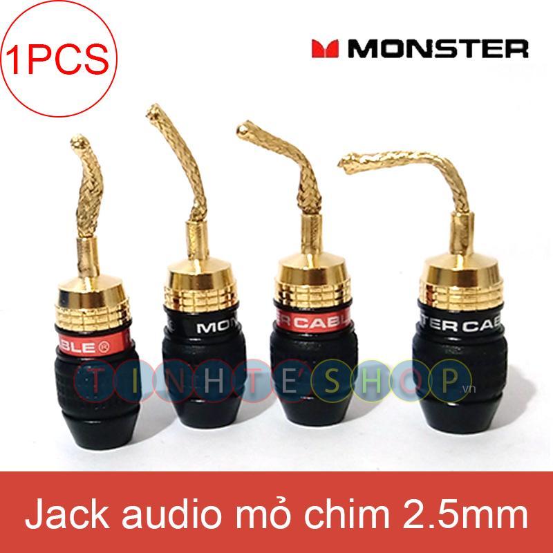 1 chiếc - Giắc mỏ chim mềm cắm cho Loa Amplifier gold 24K OD-4.0mm - Đầu đổi bắp chuối sang mỏ chim mềm OEM