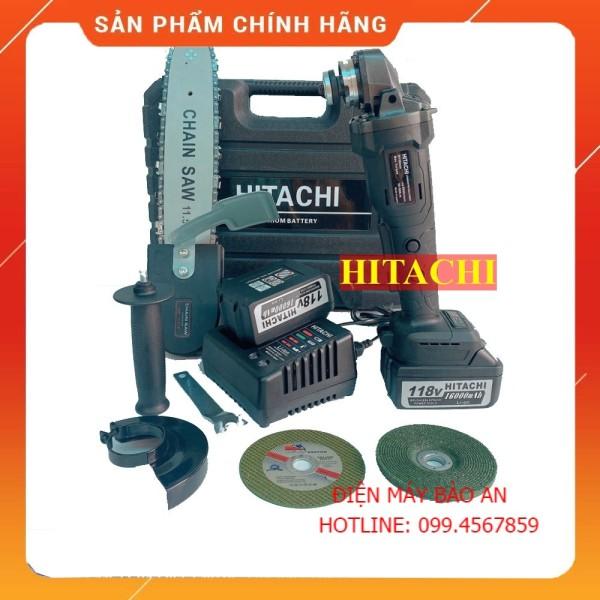 Máy mài cầm tay pin Hitachi 118V không chổi than - 20000mAh - 2 PIN - TẶNG LƯỠI CƯA XÍCH CẮT GỖ, ĐÁ MÀI, ĐÁ CẮT [CAM KẾT