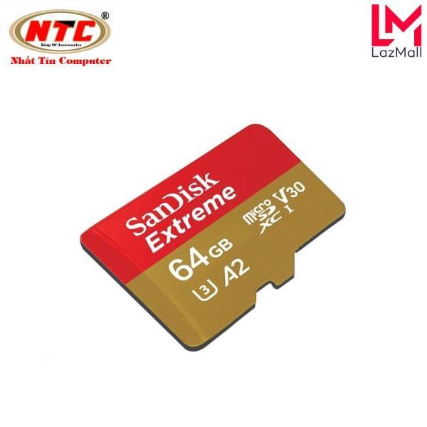 Thẻ Nhớ MicroSDXC SanDisk Extreme V30 U3 4K A2 64GB R160MB/s W60MB/s (Vàng)