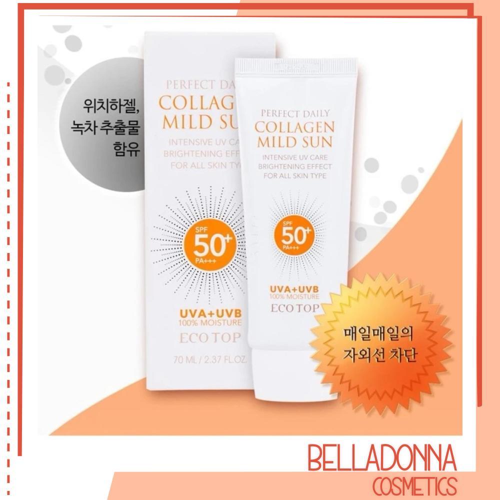 Kem chống nắng dưỡng da bố sung collagen Ecotop Perfect Daily Collagen Mild Sun SPF50+ PA+++ 70ml tốt nhất