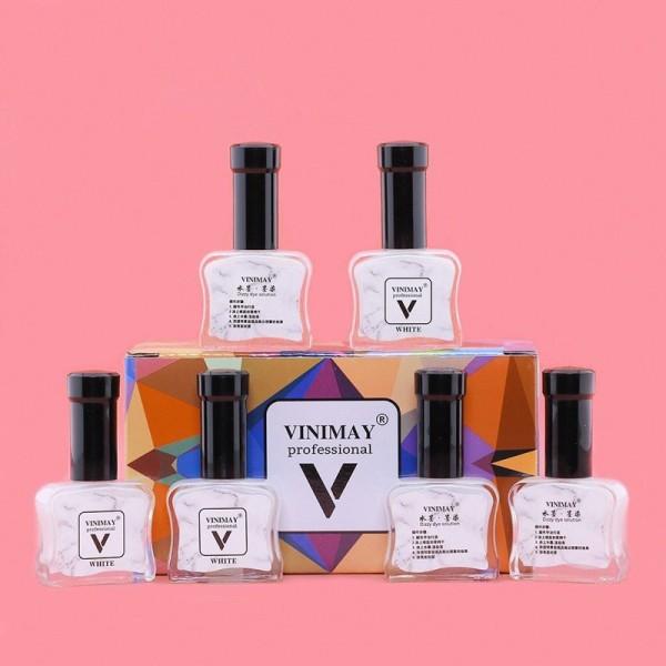 Cồn loang trắng Vinimay chính hãng - loang cồn trang trí móng tay nghệ thuật 15ml (lẻ 1 chai)