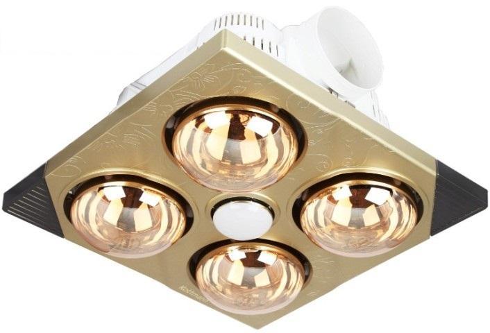 Đèn sưởi nhà tắm 4 bóng Kottmann âm trần K4B-T