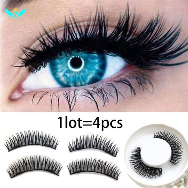 [READY STOCK]4Pcs / Set Bulu Mata 3D eyelashes eyelash Palsu Magnetik Dengan Magnet Ganda Premium Lashes YIDA
