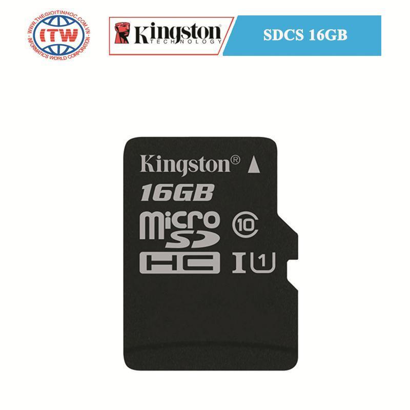 Thẻ Nhớ Kingston MicroSDCS 16GB 80MB/s - Hãng Phân Phối Chính Thức